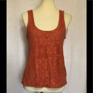 Free People crocheted front tank